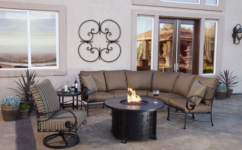House 'N Garden, OwLee Fire Pit table, evenings in Tucson
