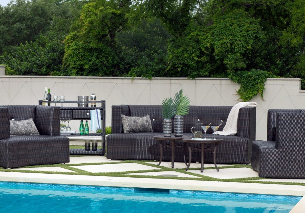 Built to outlast your family in extreme comfort and style, your McQueen Collection patio by Woodard will be the desired spot to be in your home.